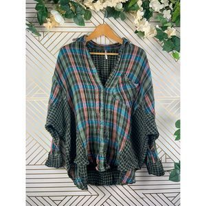 FREE PEOPLE One Of The Guys Flannel Size Small
